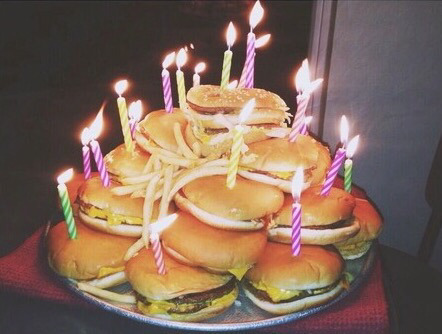 Pleasing Burger Cake Shared By Carolynlove On We Heart It Funny Birthday Cards Online Inifofree Goldxyz