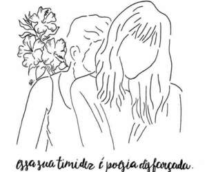 quote, timidez, and amor image