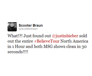 scooter, tweet, and justin bieber image