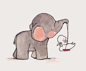 baby blue, background, and elephant image