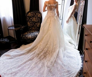 bridal, bride, and luxury image