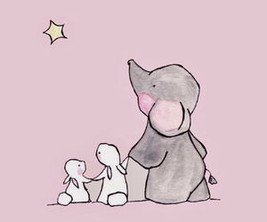 wallpaper, cute, and elephant image