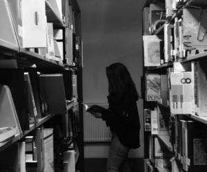 blackandwhite, book, and girl image