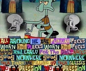 sad, funny, and squidward image