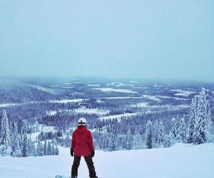 finland, snow, and snowboarding image