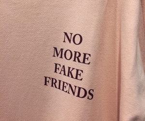 fake, no more, and fake friends image