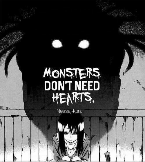 monster, anime, and dark image