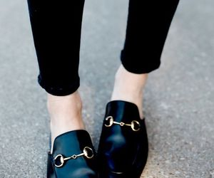 shoes, black, and gucci image