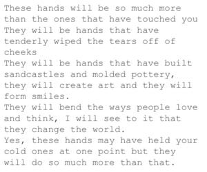 hands, heartbreak, and him image