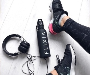 fitness, gym, and headphones image
