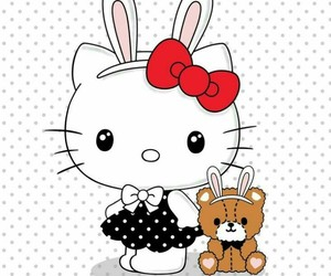 hello kitty, bunny, and sanrio image