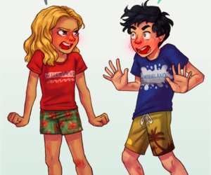 percy jackson, books, and percabeth image