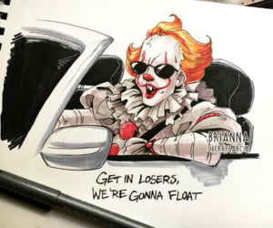 funny, pennywise, and it image