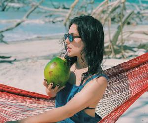 beach, br, and meninas image