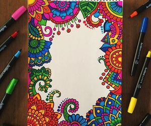 colors, doodles, and mandala image