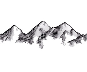 mountain and sketch image