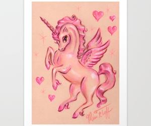 unicorn art print image