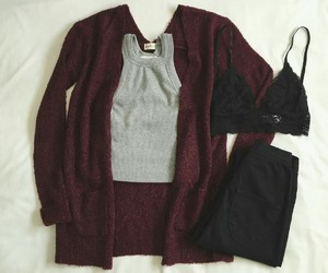 fall, outfit, and school image