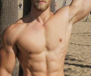 exercise, hot guys, and shirtless guys image