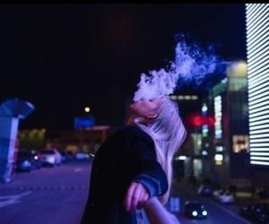 girl, smoke, and alternative image