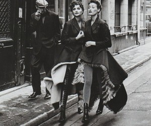 fashion, model, and vintage image