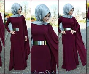 fashion, hijab, and muslim clothing image