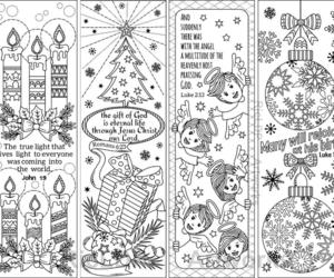bookmarks, christmas, and coloring image