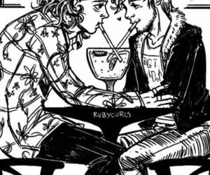 black and white, fan art, and larry stylinson image
