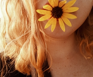 blonde, flower, and me image