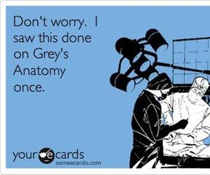 grey's anatomy and funny image