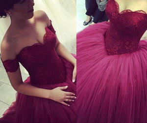 evening dress, princess dress, and sweet16 image