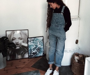 casual, fashion, and overalls image