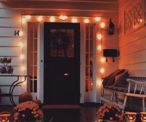 autumn, aesthetic, and door image