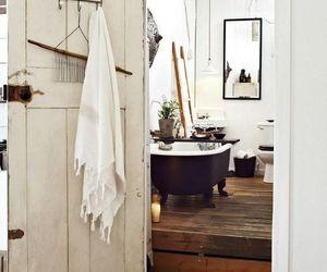 bathroom, home decor, and vintage farmhouse image