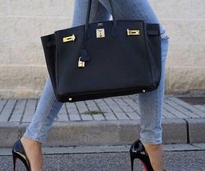 details, hermes bag, and jeans image