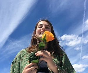 girl, flowers, and diana silvers image