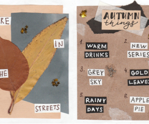 art journal, autumn, and fire image