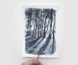 art, landscape, and sketchbook image