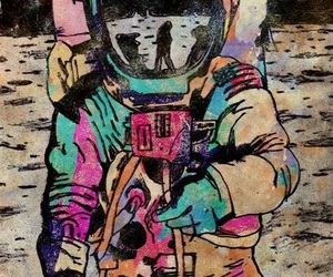 space, astronaut, and colors image