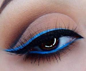 blue, eyeshadow, and make-up image