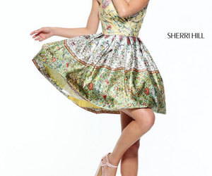 2017 short prom dresses and printed homecoming gown image