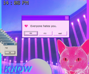 alternative, cat, and pink image