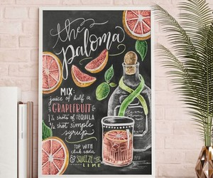 art, lettering, and drinks image