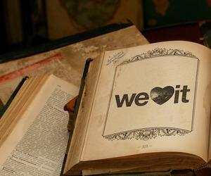 book, we heart it, and weheartit image