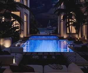 pool, luxury, and home image