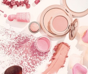 blush, Brushes, and nail polish image