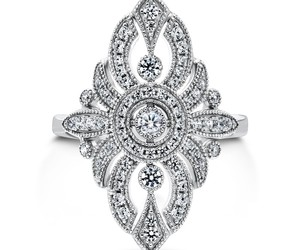 art deco, ring, and statement image