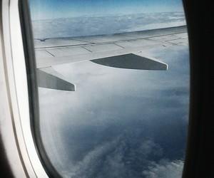 travel, window, and clound image
