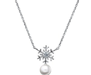 necklace, pearl, and pendant image