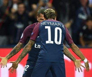 neymar, dani alves, and psg image